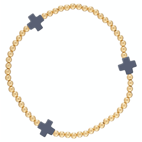 enewton- Cross Gold Bracelet Navy