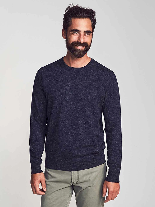 Faherty Sconset Crewneck -Navy Heather