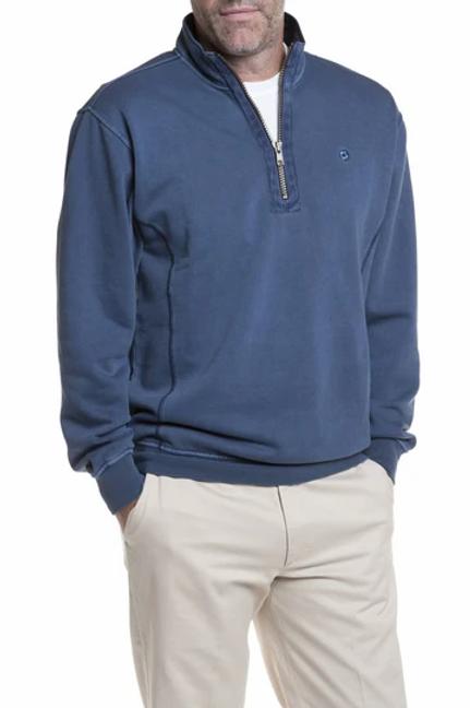 Castaway  Breakwater 1/4 Zip Sweatshirt-Navy