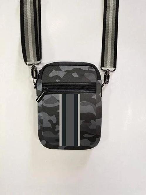 Black Camo Cell Phone Bag- Elite