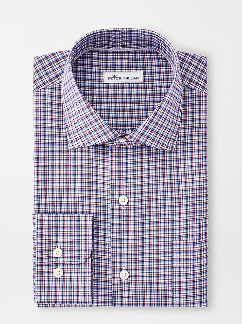 "Peter Millar Crown Ease Curtis Sportshirt -Color ""City Blue"""