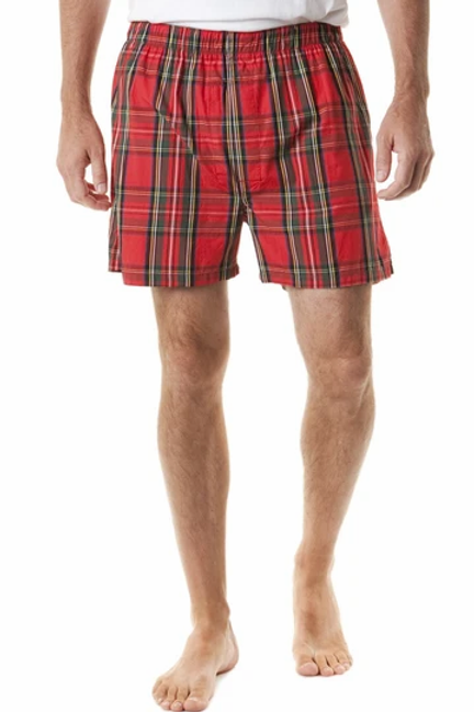 Castaway Chase Barefoot Boxer in Royal Stewart Plaid