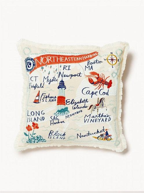 Northeastern Harbor Pillow
