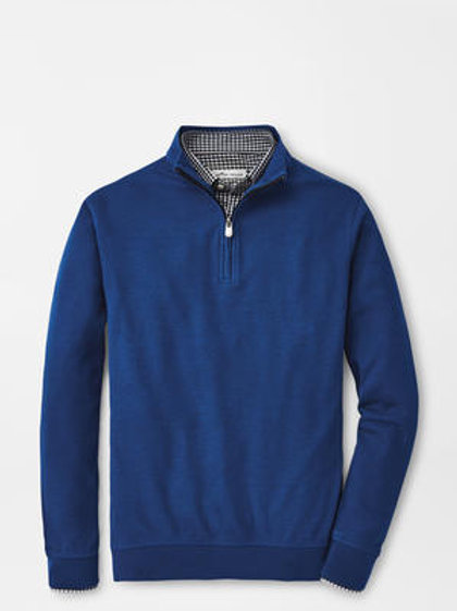 Peter Millar Crown Comfort Interlock 1/4 in Navy Blue