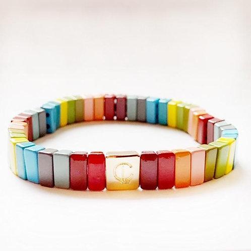 Tile Bracelet- Fall Rainbow Mini