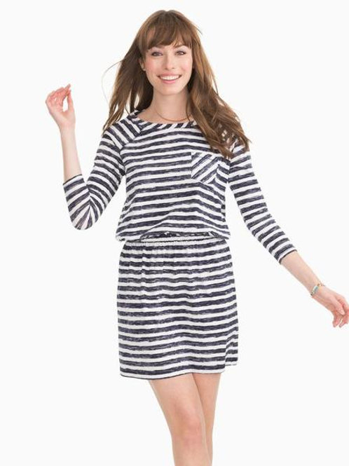 Southern Tide Navy Stripe Dress