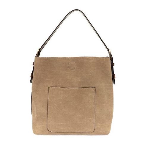Faux Linen Hobo Handbag - Joy Susan