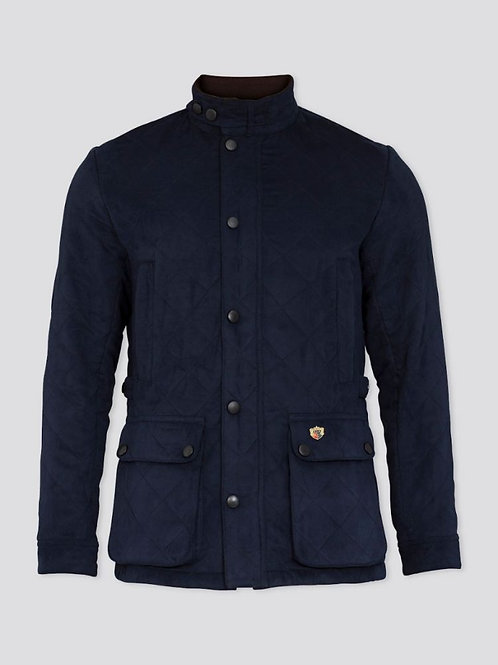 Alan Paine Felwell Quilted Jacket in Dark Navy
