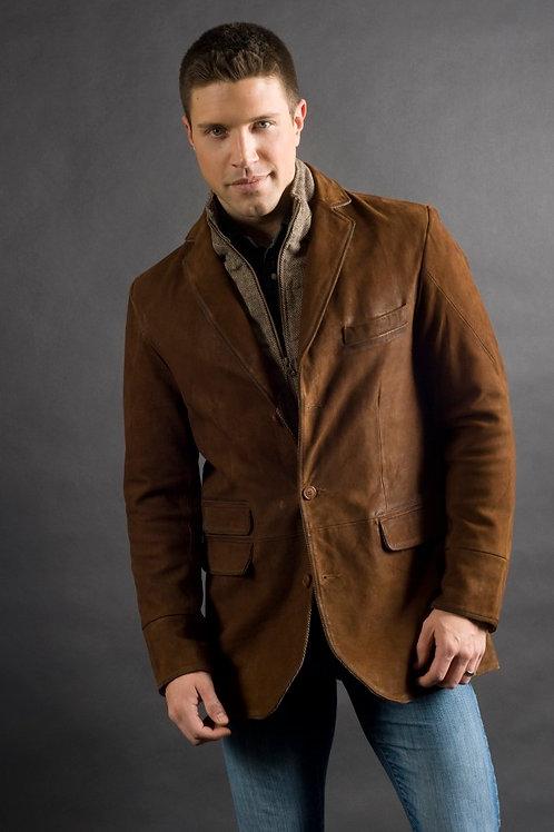 Q By Flynt Goatskin/Wool Hybrid Jacket