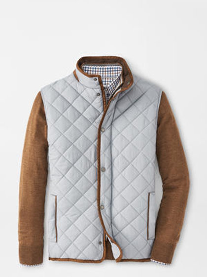 Peter Millar Essex Quilted Travel Vest-Color- Gale Gray