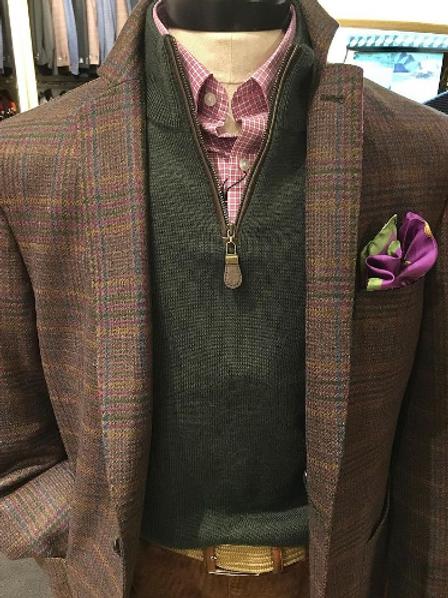 "Q By Flynt ""Burton' Sportcoat in Wool Plaid"