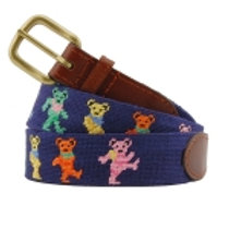 Grateful Dead Dancing Bears Needlepoint Belt