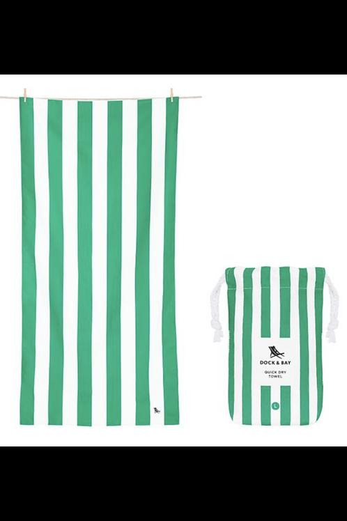 Quick Dry Cabana Beach Towel Cancun Green