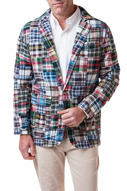 Castaway Spinnaker Blazer in Lincoln Patch Madras