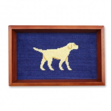 Smathers and Branson Yellow Lab Needlepont Valet Tray
