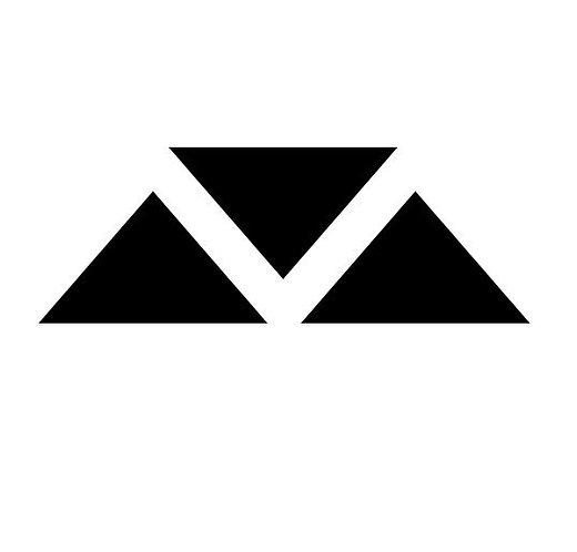 Tri Logo 3 Piece Vinyl Decal