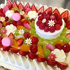 Strawberry cake square