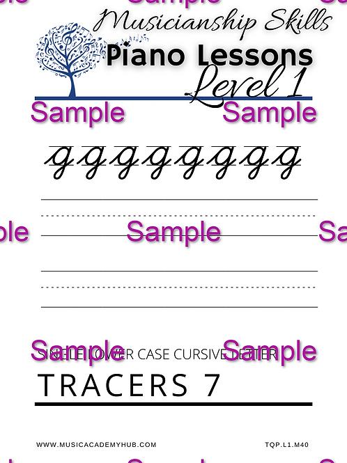 Lower Case Cursive 'g' Tracer