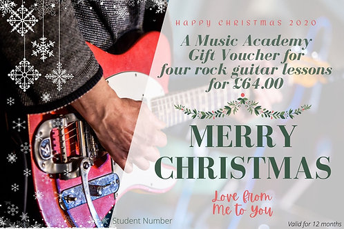 Gift Voucher for 4 Electric Guitar Lessons