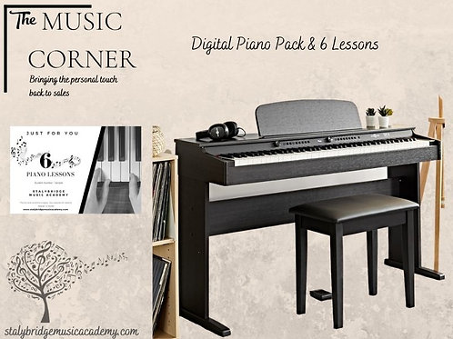 DP-6 Digital Piano Package and 6 lessons