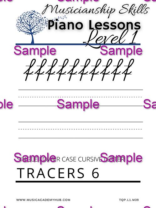Lower Case Cursive 'f' Tracer