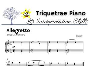 Interpretation Level 5: Allegretto by Diabelli