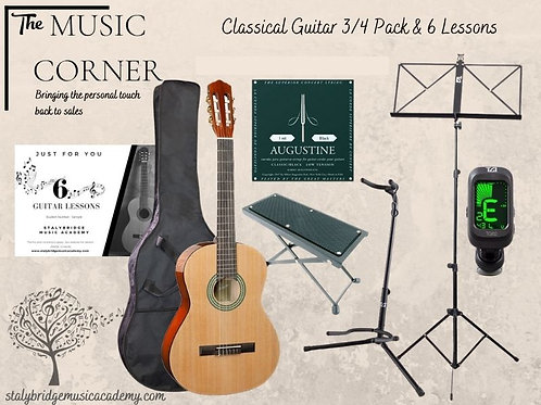 Classical Guitar 3/4 Pack & 6 Lessons