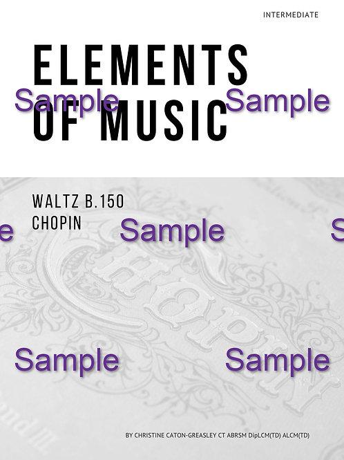 Chopin B.150 Teacher Workbook