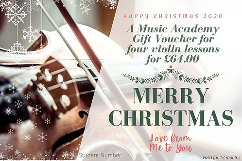 Gift Voucher for 4 Violin Lessons