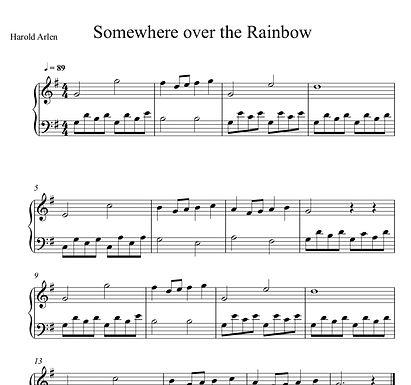 Somewhere Over the Rainbow   Elementary Piano
