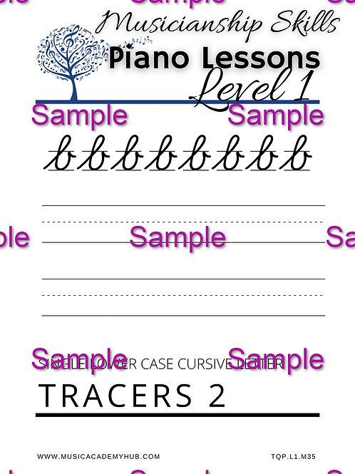 Lower Case Cursive 'b' Tracer