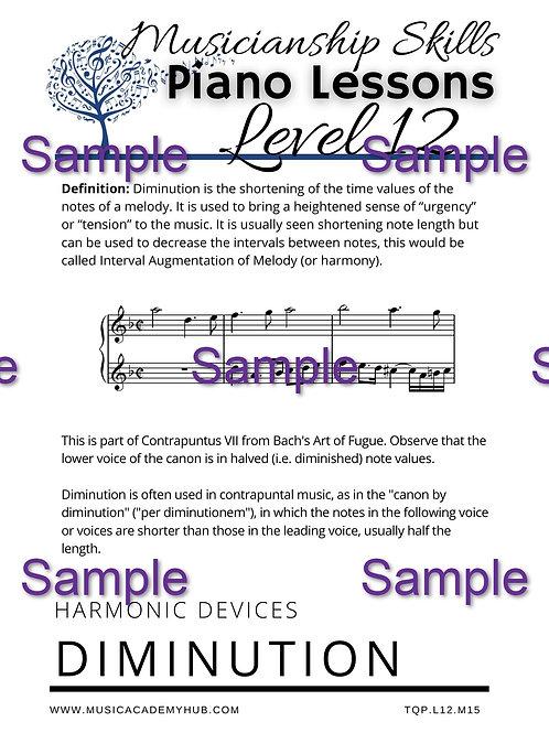 Harmonic Devices: Diminution