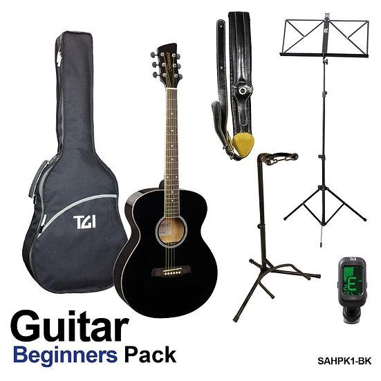 Acoustic Guitar Beginners Pack Black