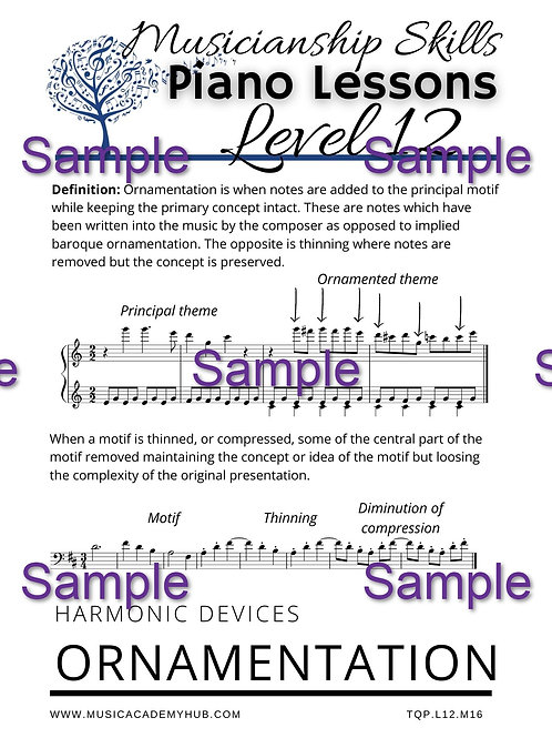 Harmonic Devices: Ornamentation