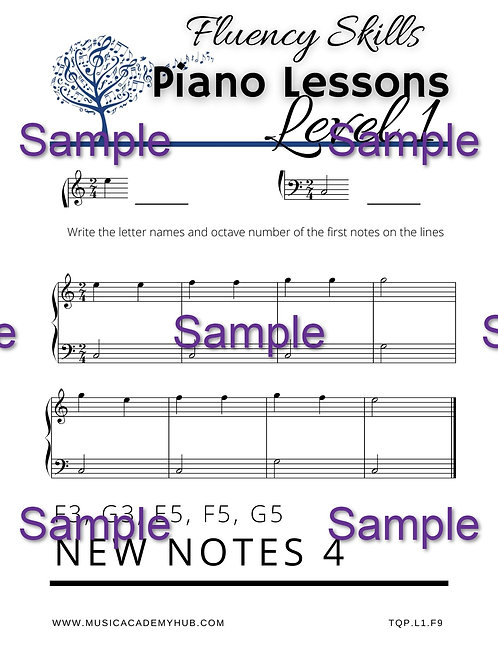 New Notes 4: C3, G3, E5, F5, G5