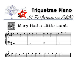 Performance Level 1: Mary Had a Little Lamb