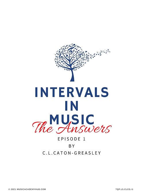 Intervals in Music. Ep. 1 - The Answers