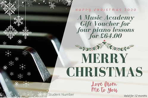 Gift Voucher for 4 Piano Lessons