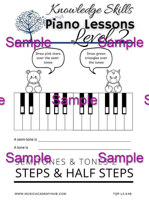 Semitones and Tones