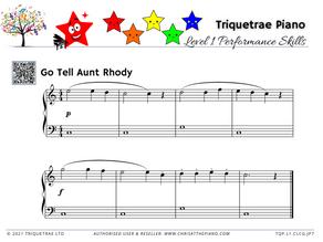 Junior Piano Performance Level 1: Go Tell Aunt Rhody