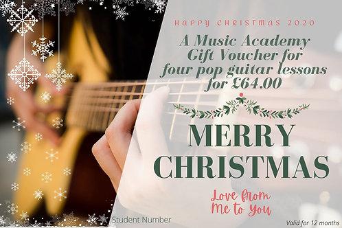 Gift Voucher for 4  Guitar Lessons