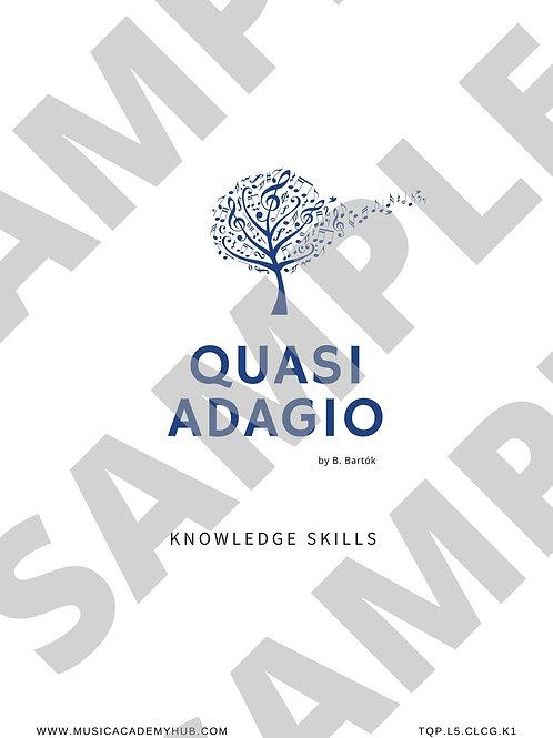 Quasi Adagio. Knowledge Workbook