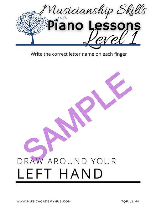 Draw Around Your Left Hand