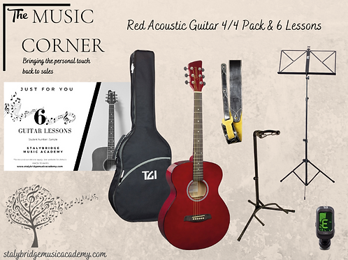 Acoustic Guitar Pack & 6 lessons
