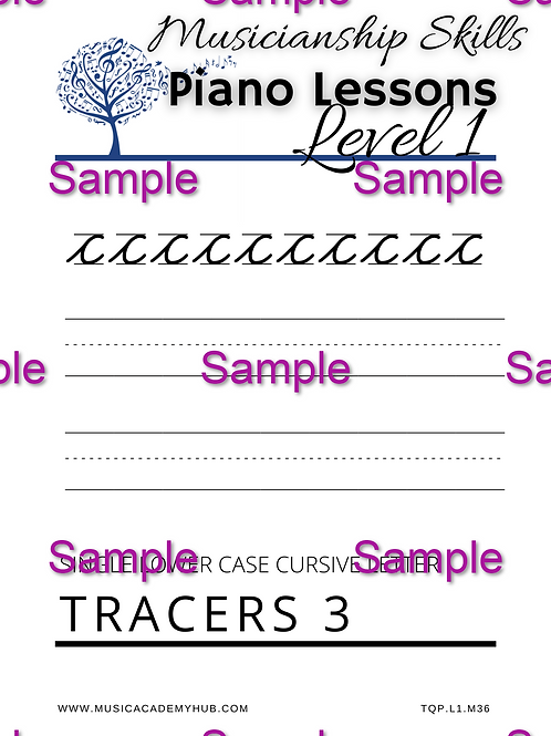 Lower Case Cursive 'c' Tracer