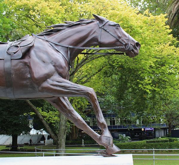 Bonecrusher Statue by Michelle Farrell, Ellerslie Racecourse