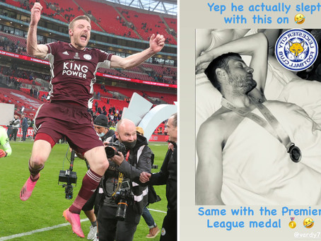 O Jamie Vardy πανηγύρισε με τον δικό του τρόπο το FA Cup