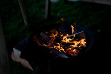 Fire bowl in Winter