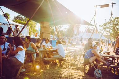 sunny festival seating