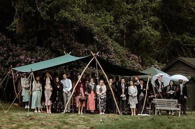 Awning wedding ceremony